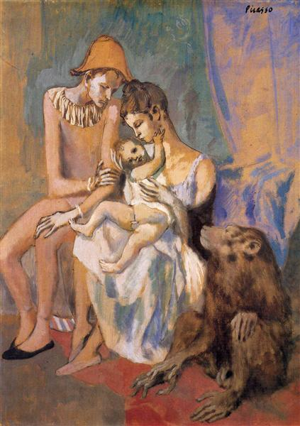Family of Acrobats with Monkey, 1905 - Pablo Picasso