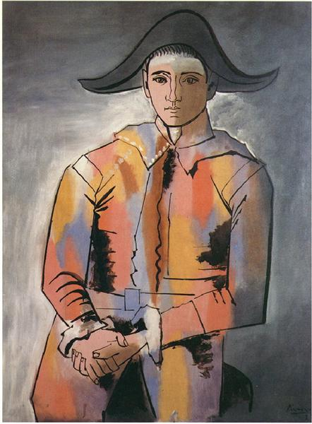 Harlequin with his hands crossed (Jacinto Salvado), 1923 - Pablo Picasso