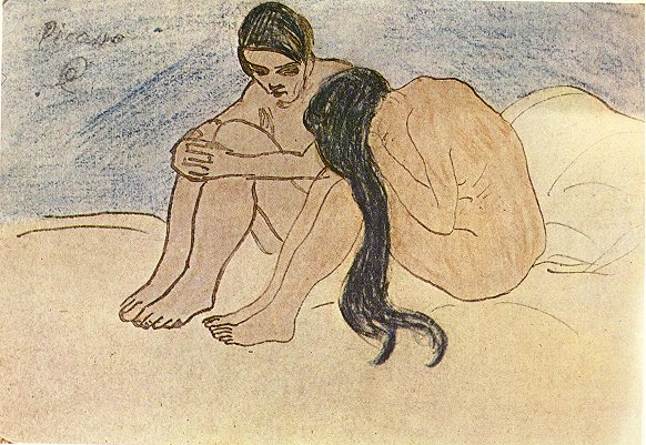 Man and Woman, 1902 - Pablo Picasso