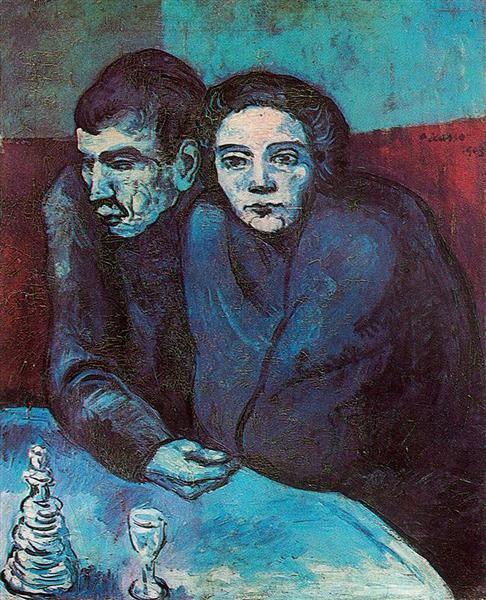 Man and woman in café, 1903 - Pablo Picasso