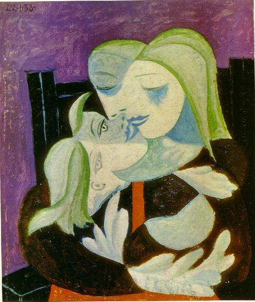 Mother and child (Marie-Therese and Maya), 1938 - Pablo Picasso
