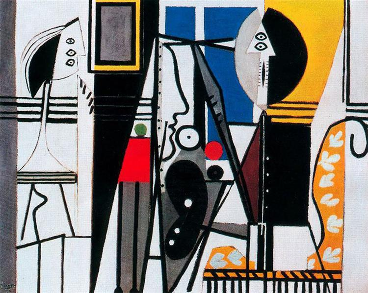 Painter and his model, 1928 - Pablo Picasso