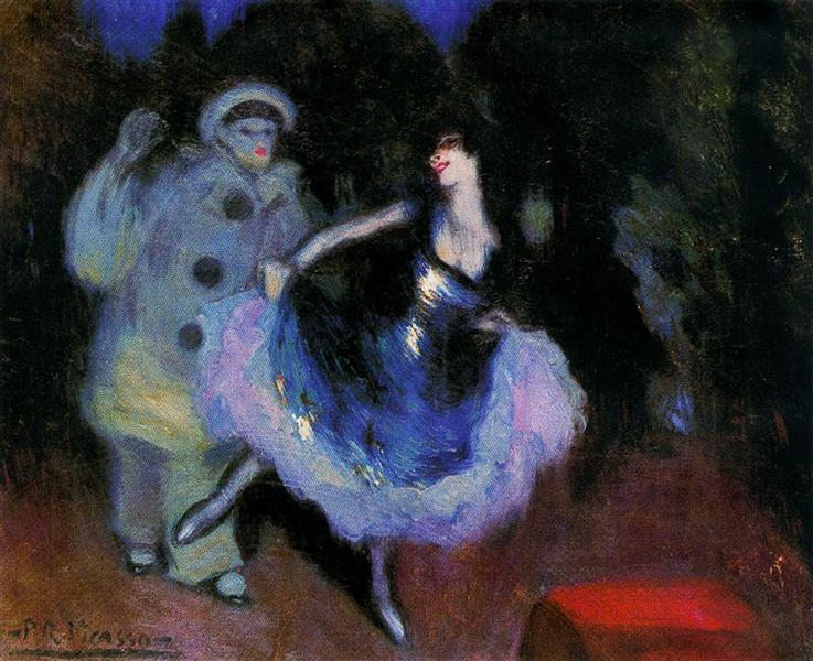 Pierrot and Colombina, 1900 - Pablo Picasso