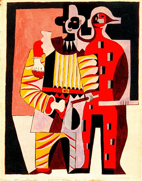 Pierrot and Harlequin, 1920 - Pablo Picasso