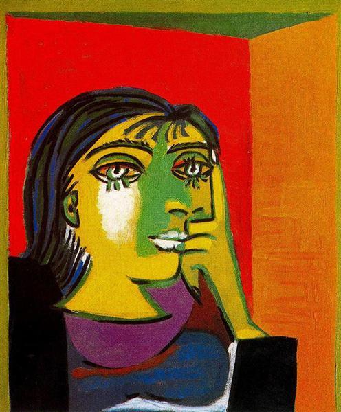 Portrait of Dora Maar, 1937 - Пабло Пікассо