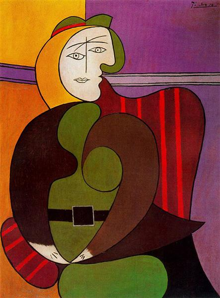 Seated Woman in a Red Armchair, 1931 - Pablo Picasso