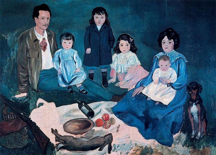 Soler family, 1903 - Pablo Picasso - WikiArt.org
