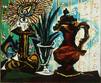 Still life with candle, 1937 - Pablo Picasso