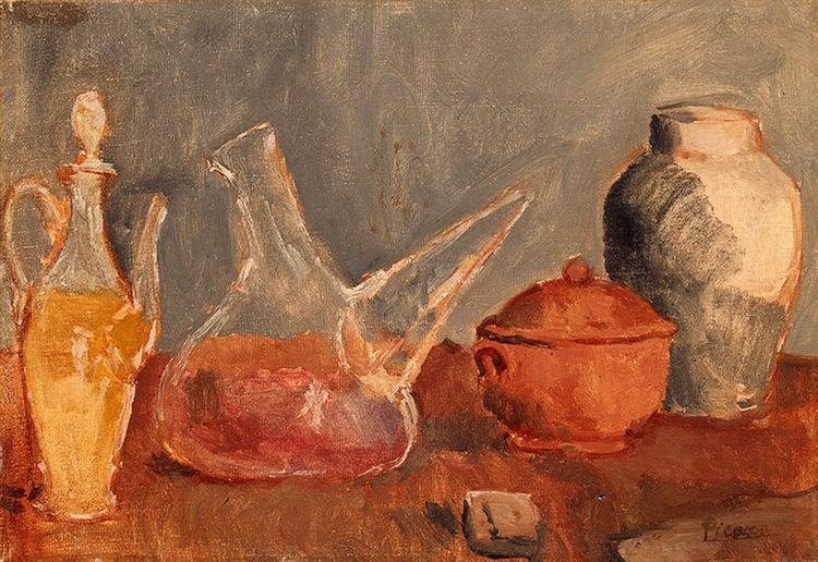 Still Life With Vases 1906 Pablo Picasso Wikiart