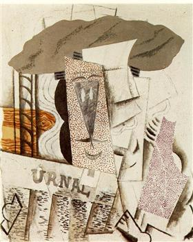 Student with newspaper - Pablo Picasso