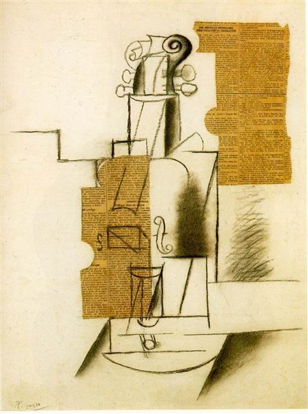Violin, c.1912 - Pablo Picasso
