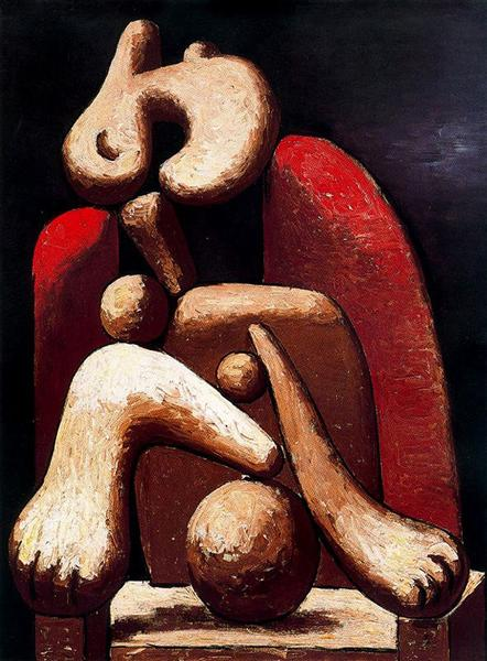 Woman in red armchair, 1932 - Pablo Picasso