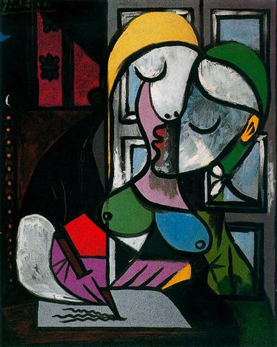 Woman writing - Pablo Picasso