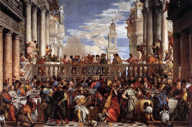 брак в кане галилейской 1563 паоло веронезе Wikiartorg
