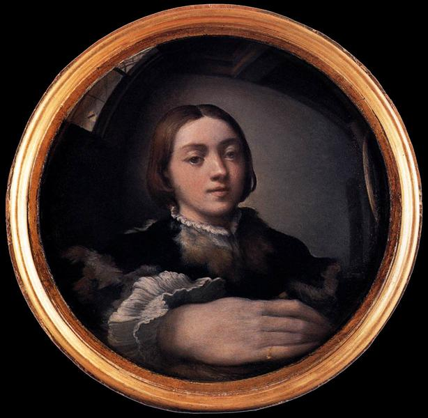 Self-portrait in a Convex Mirror, c.1524 - Parmigianino