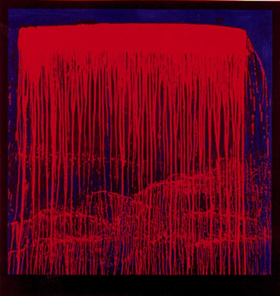 Berlin Waterfall, 1993 - Pat Steir