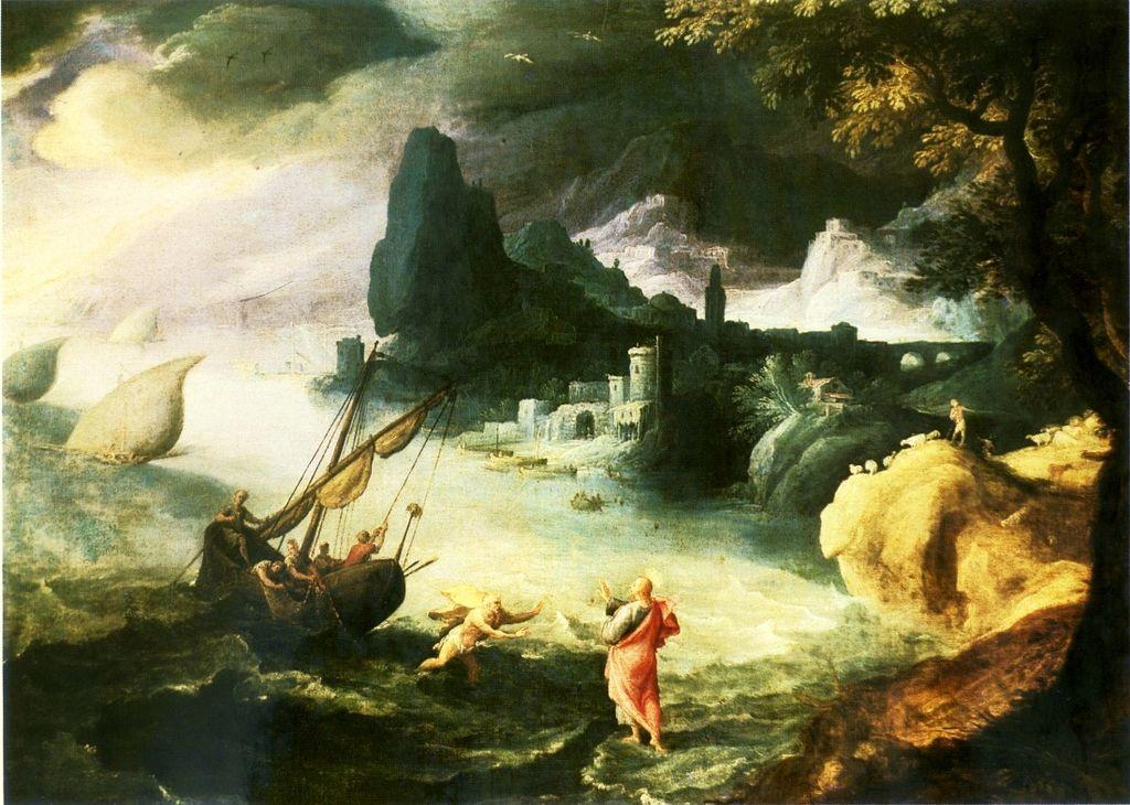 Jesus walking on the Sea of Galilee, 1590