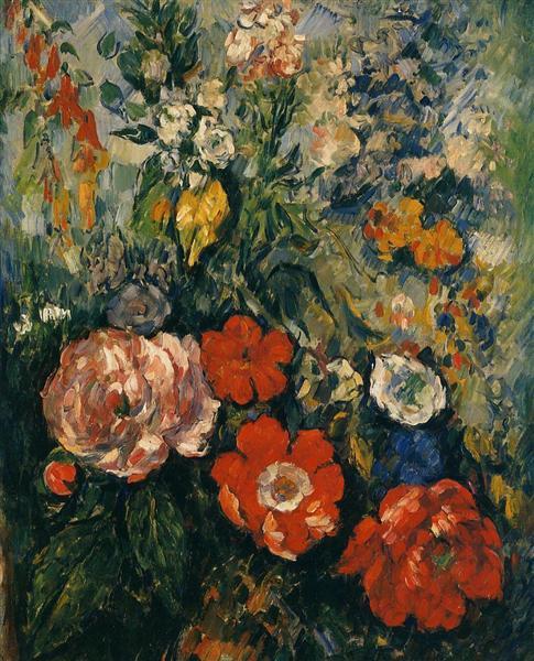 Bouquet of Flowers, c.1880 - Paul Cezanne
