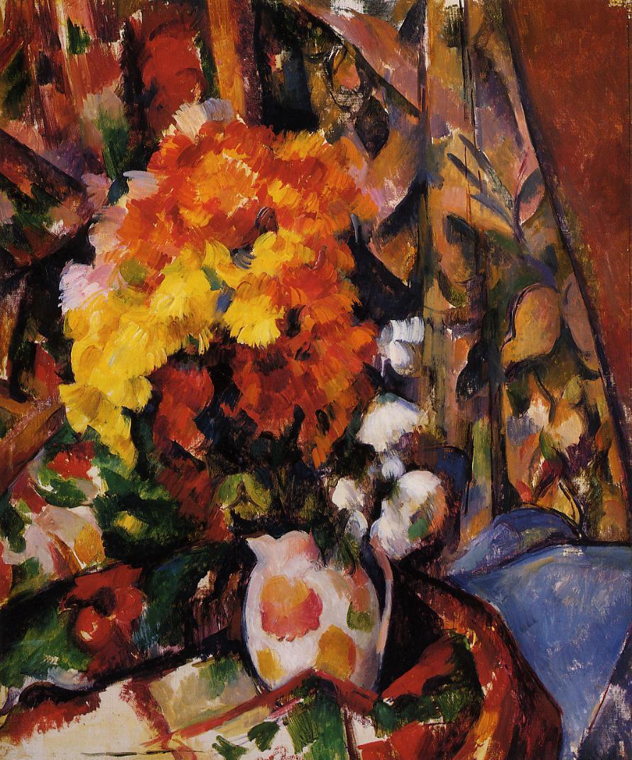 Chrysanthemums 1898 Paul Cezanne Wikiart Org