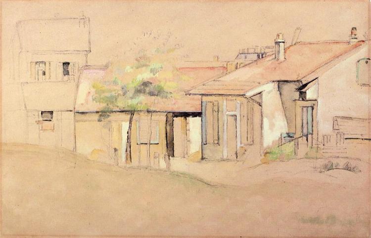 Cottages, c.1885 - Paul Cézanne