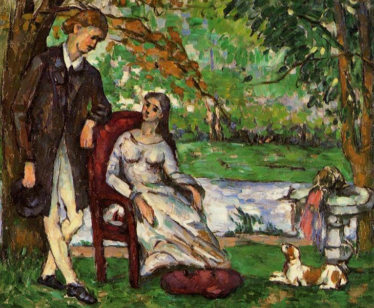 Couple in a Garden, c.1873 - Paul Cezanne