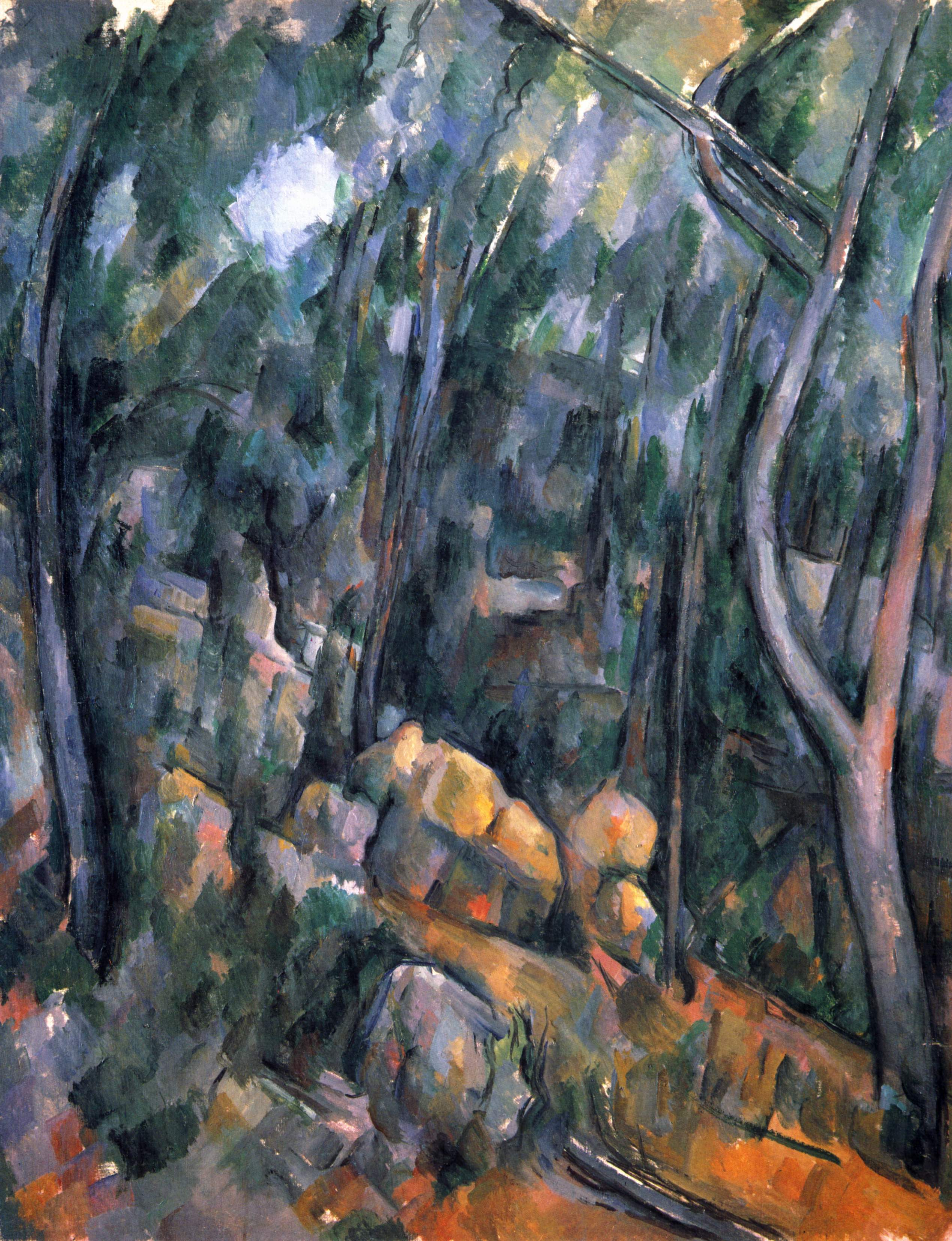 paul cezanne pines and rocks essay Paul cézanne 1883-85 l'estaque: rocks, pines and sea oil on canvas 100 x 81  cm staatliche kunsthalle karlsruhe.