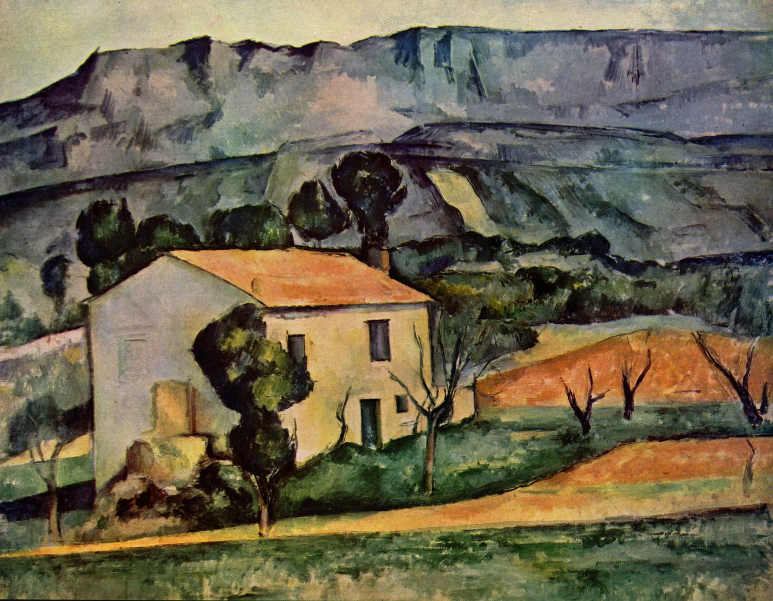 houses in provence near gardanne 1886 paul cezanne