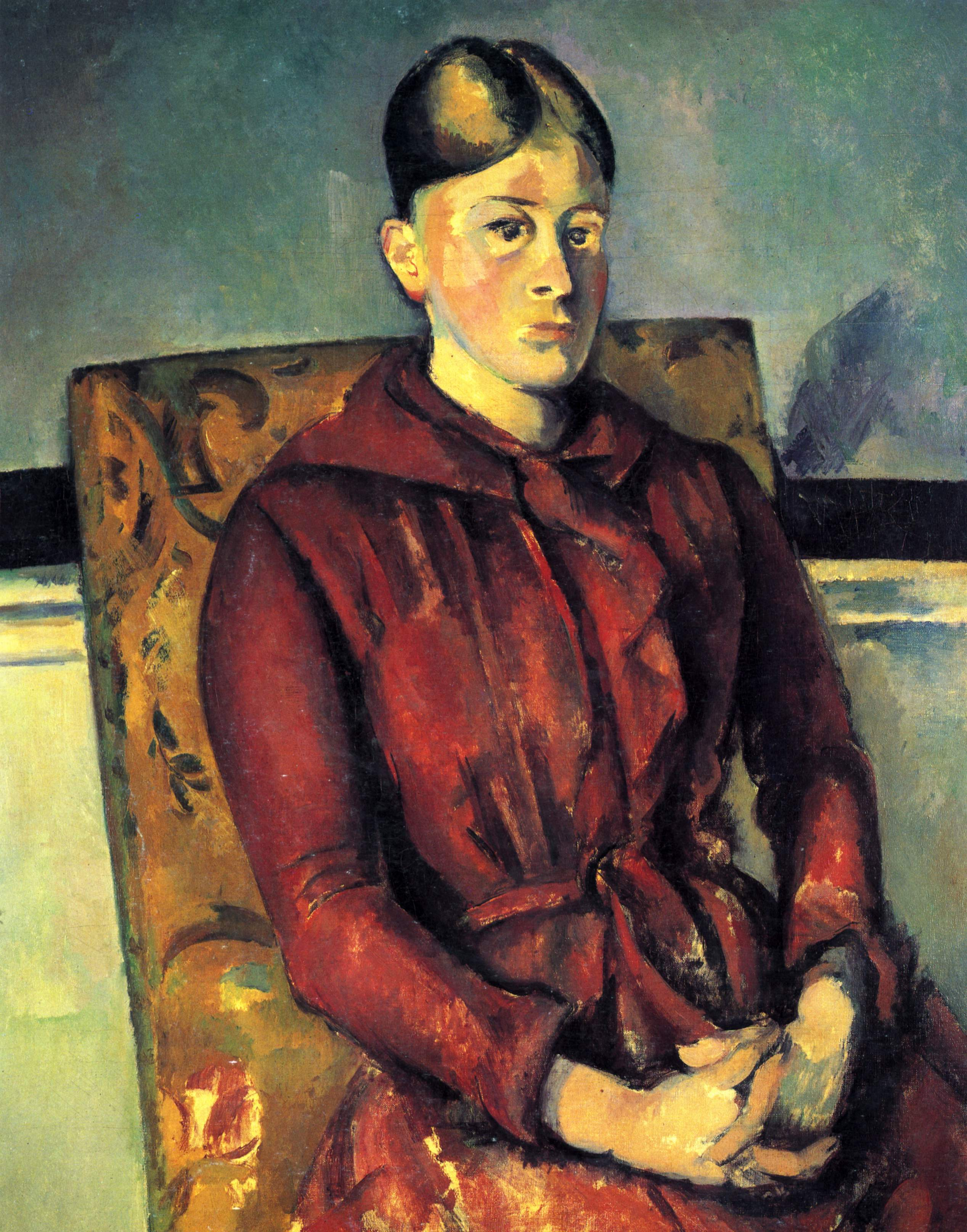 Madame Cezanne With A Yellow Armchair C 1890 Paul