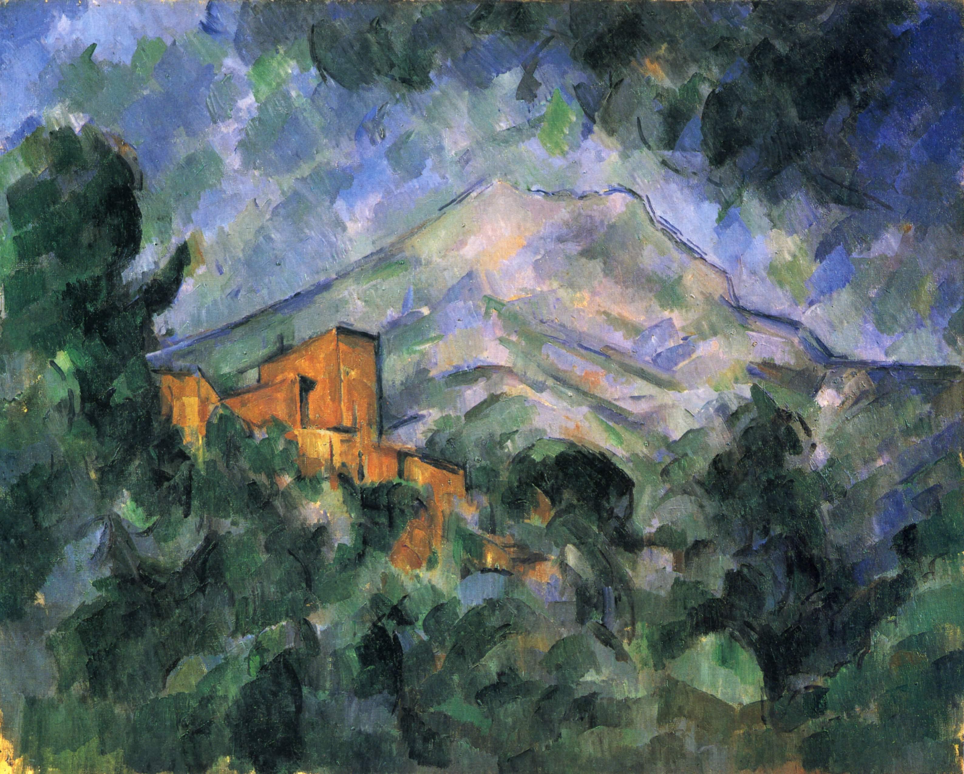Montagne sainte victoire and the black chateau - Le comptoir des arts saint paul trois chateaux ...