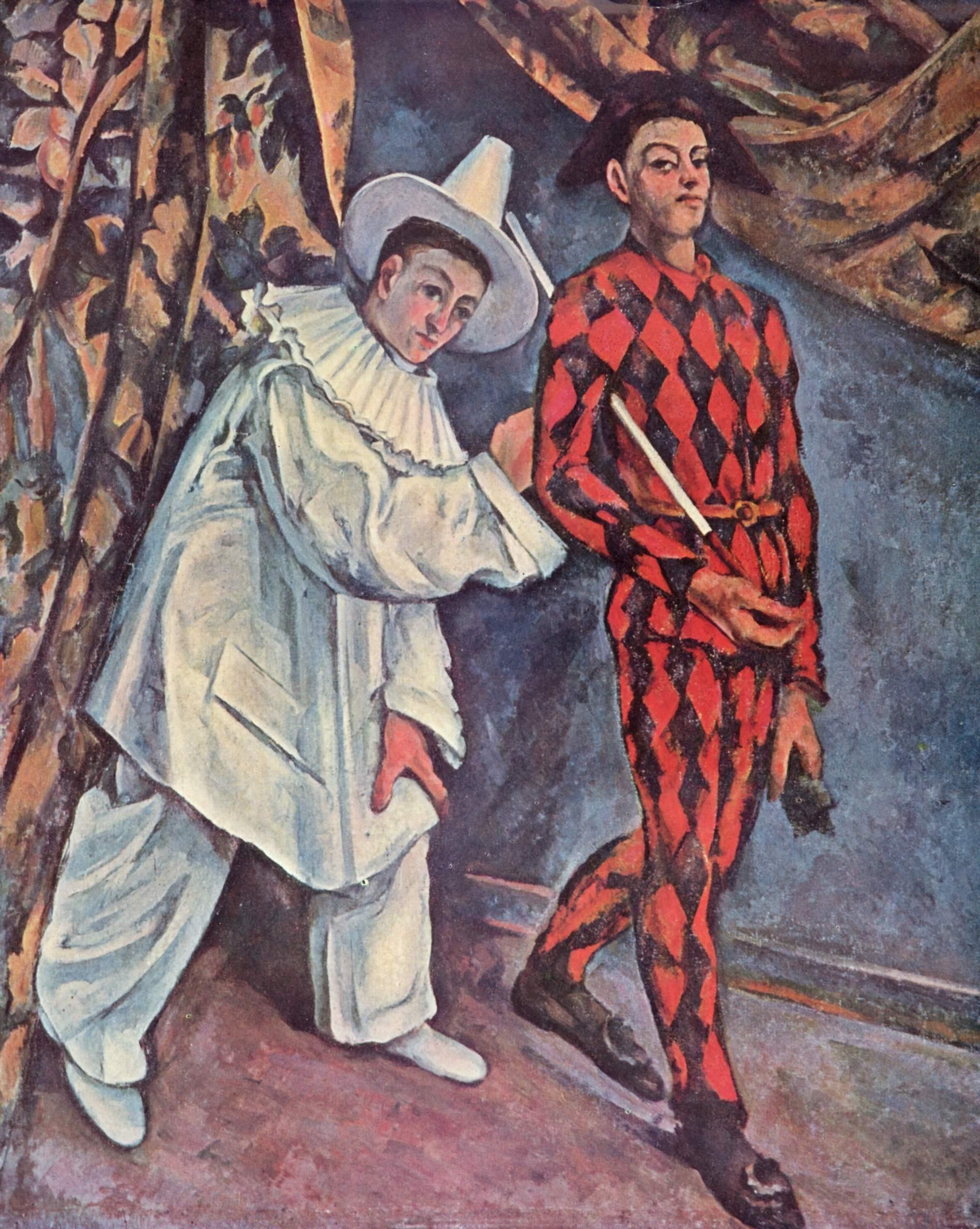 Pierrot and Harlequin (Mardi Gras), 1888 - Paul Cezanne - WikiArt.org