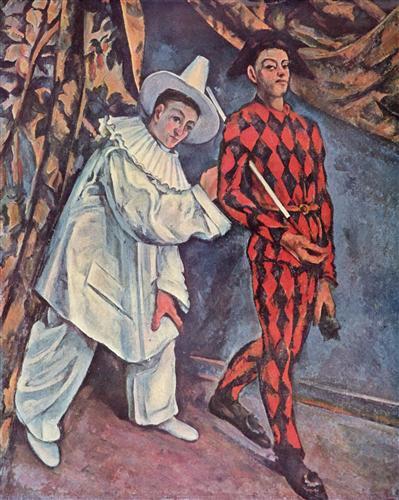 Pierrot and Harlequin (Mardi Gras)  - Paul Cezanne