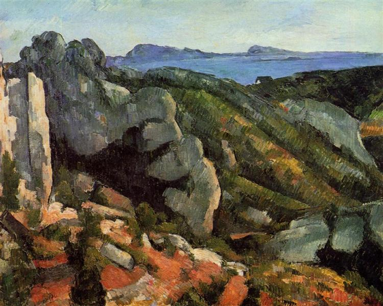 Rocks at L'Estaque, c.1882 - Paul Cezanne