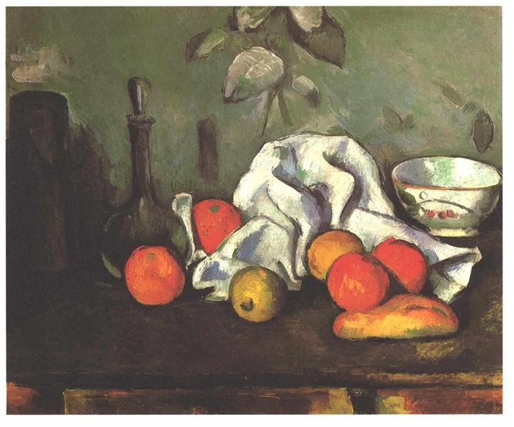 Still life with fruits, 1880 - Paul Cezanne