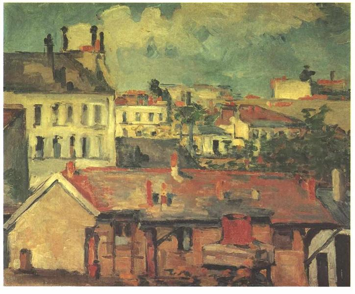 The roofs, 1876 - 1877 - Paul Cezanne