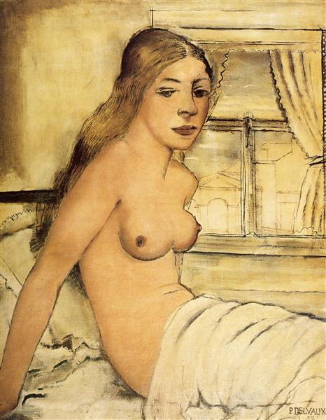 Naked at dawn, 1932 - Paul Delvaux