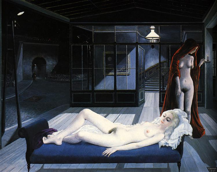 The Blue Sofa, 1967 - Paul Delvaux