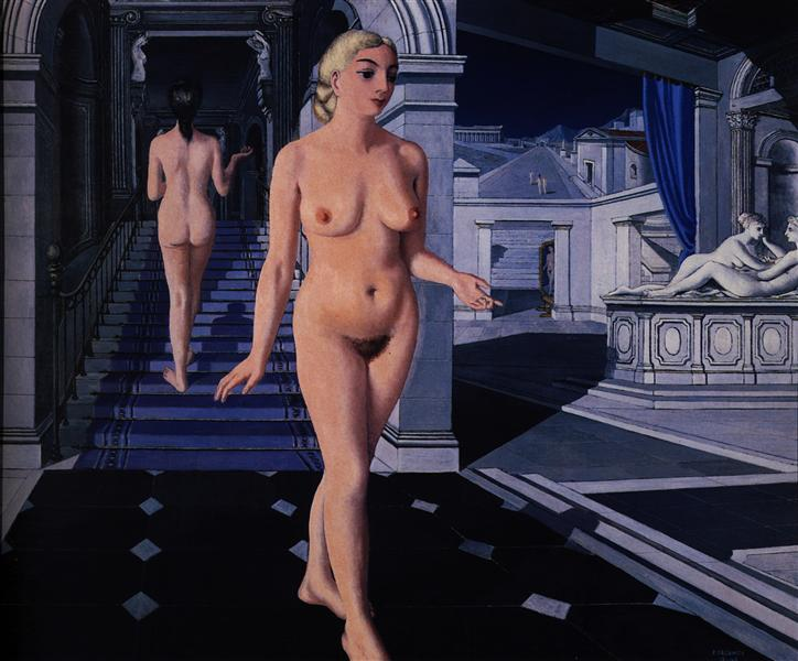 The Staircase, 1946 - Paul Delvaux