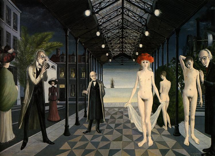 Tribute to Jules Verne, 1971 - Paul Delvaux