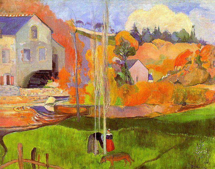 A breton landscape. David's mill., 1894 - Paul Gauguin