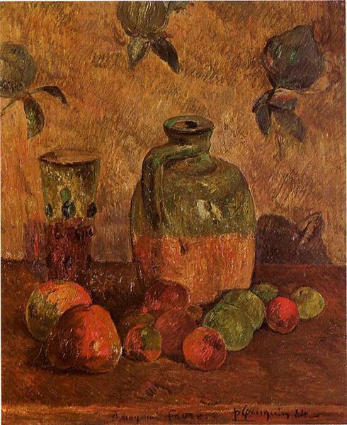 Apples, Jug, Iridescent Glass, 1884 - Paul Gauguin