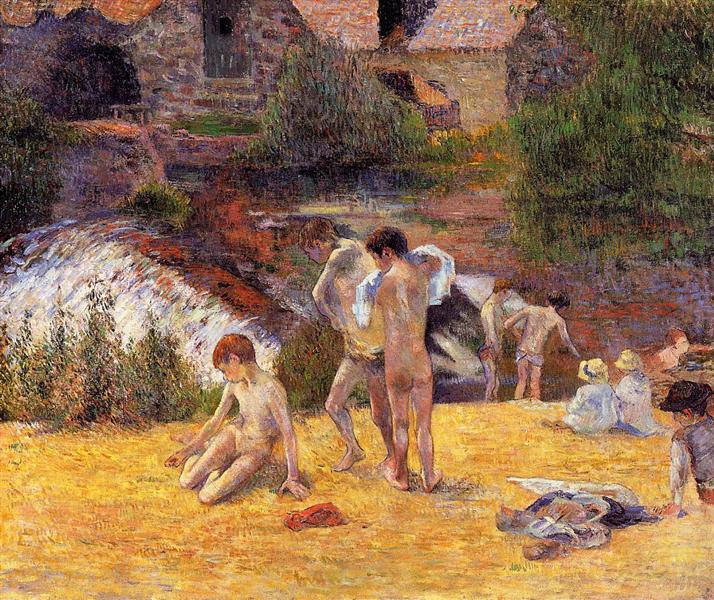 Bathing Place, 1886 - Paul Gauguin