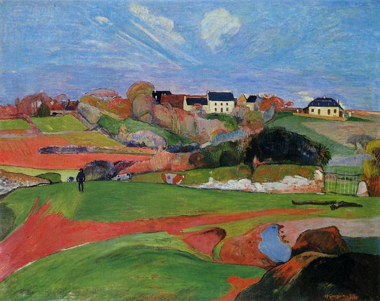 Landscape at Le Pouldu, 1890 - Paul Gauguin