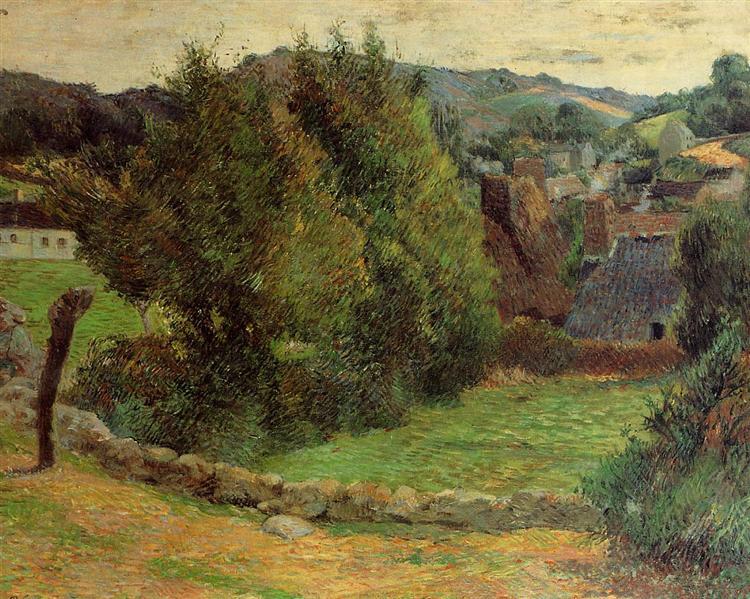 Landscape at Pont-Aven, 1886 - Paul Gauguin
