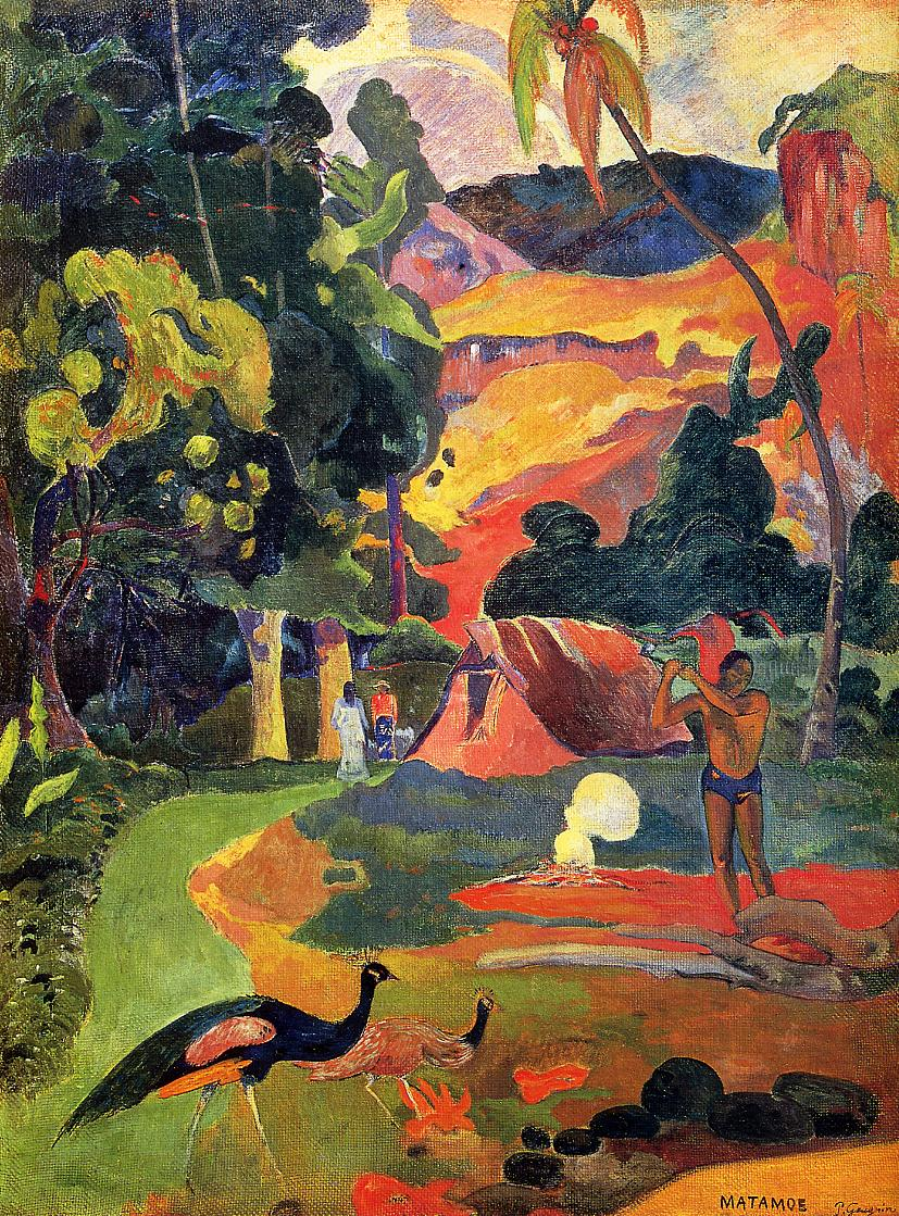 paul gauguins art work A successful stockbroker, he gave up his career to devote his life to painting and  to seek the simple beauty he saw in the lives of primitive peoples paul gauguin.