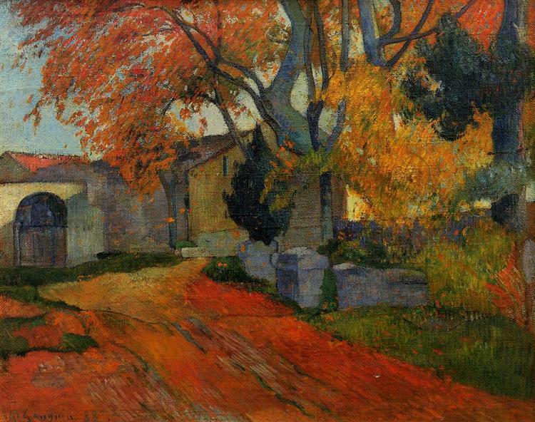 Lane at alchamps, Arles, 1888 - Paul Gauguin