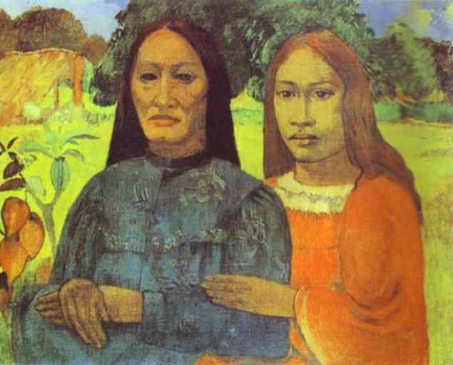 Мати і дочка, c.1891 - Поль Ґоґен