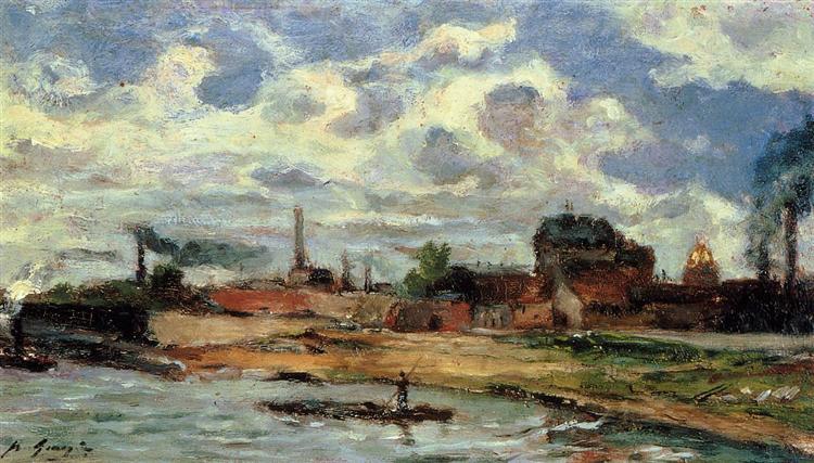 Порт де Жавель, 1876 - Поль Ґоґен