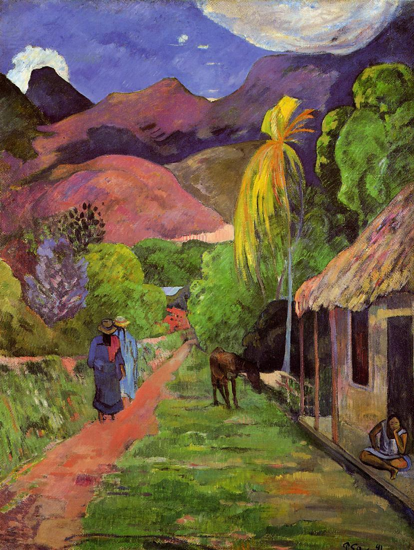 Mountains in Tahiti by Paul Gauguin oil Painting Canvas ... |Gauguin Paintings