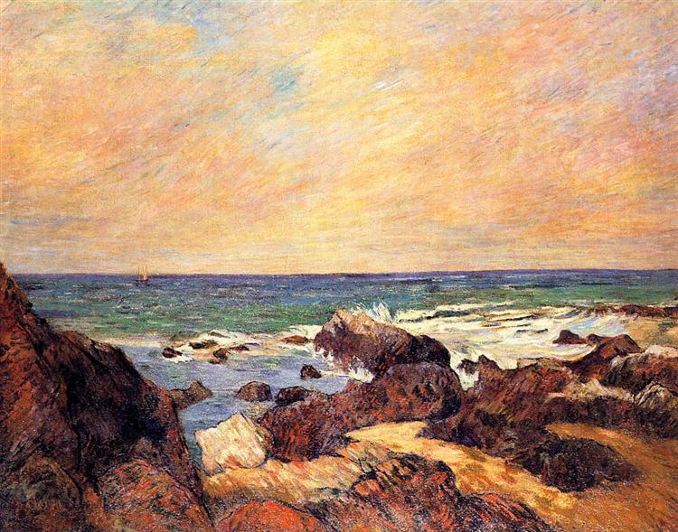 Rocks and sea, 1886 - Paul Gauguin