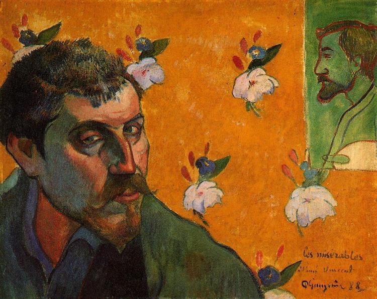 Self-Portrait with Portrait of Émile Bernard (Les misérables), 1888 - Paul Gauguin